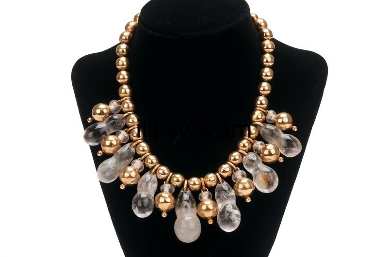 William Spratling Necklace<br>with Pre-Columbian Rock crystal & 18K gold<br>$165,000.00